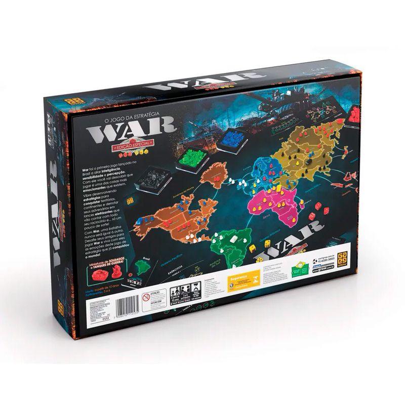 Jogo War Edicao Especial Grow Superlegalbrinquedos