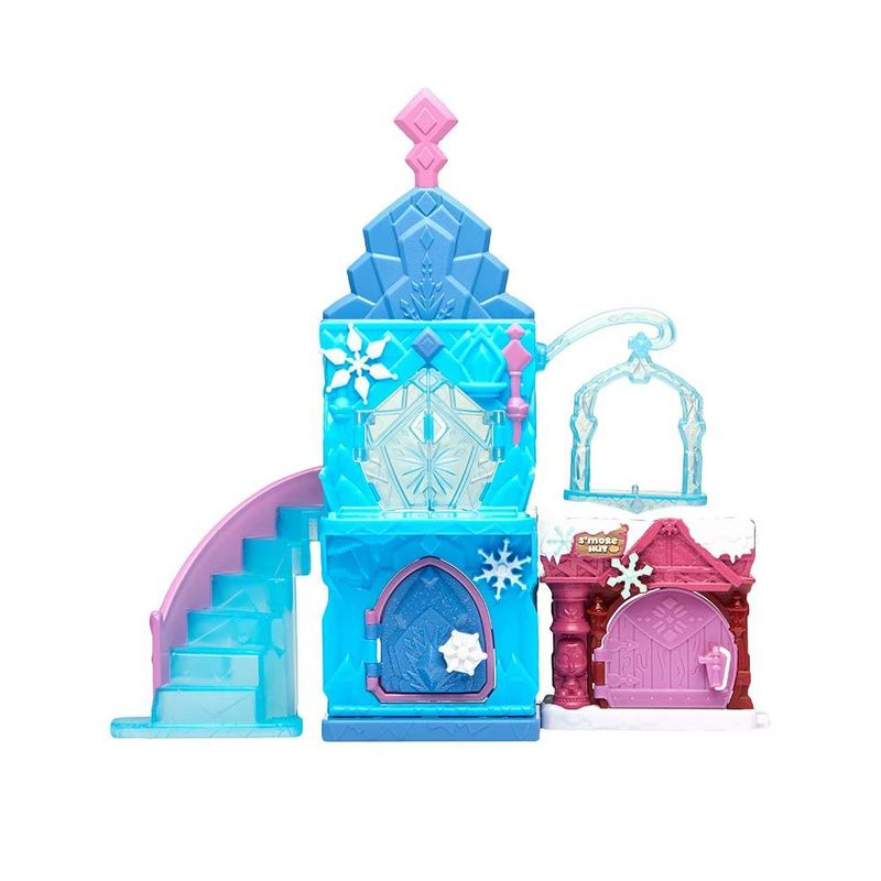 Playset Com Mini Figura Castelo De Gelo Da Frozen Disney