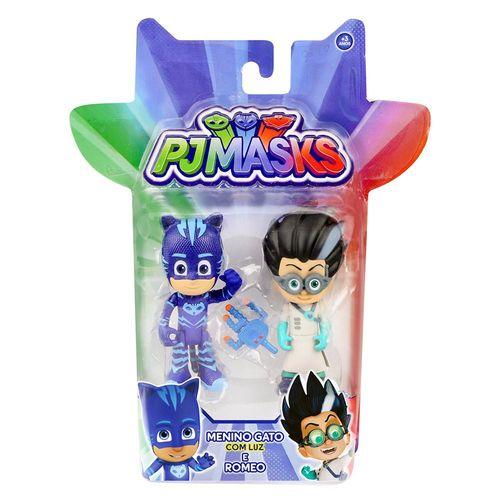 4384_Conjunto_com_2_Figuras_PJ_Masks_Heroi_com_Luz_e_Inimigo_Menino_Gato_e_Romeo_DTC_2
