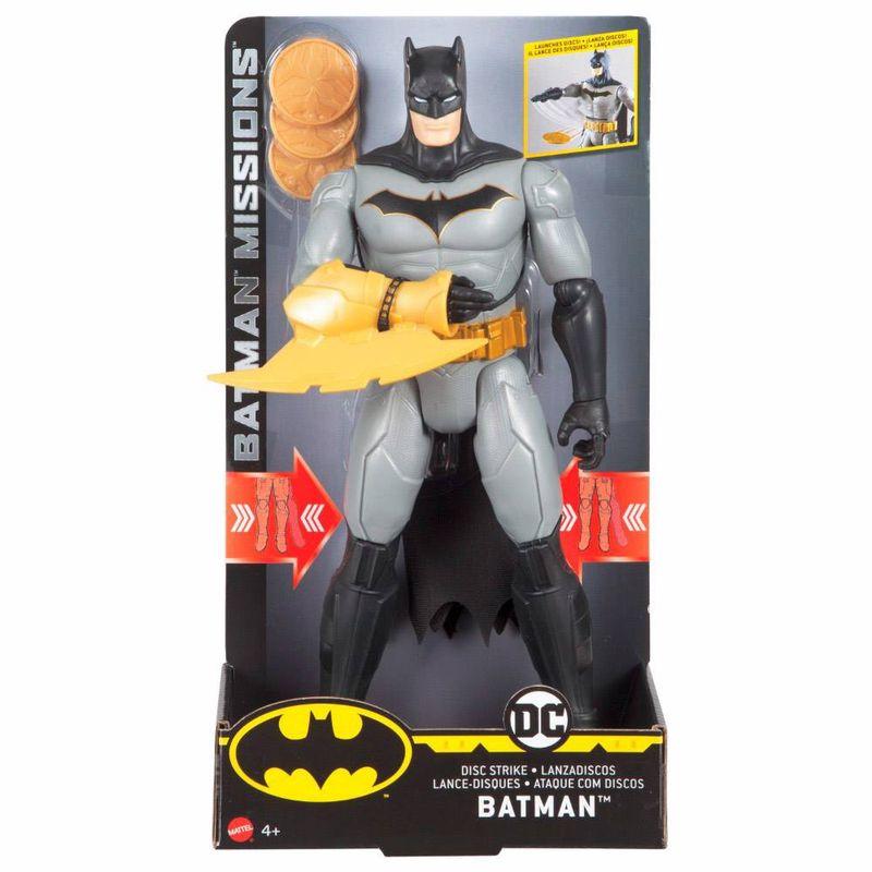 FVM67_Figura_Articulada_Batman_Ataque_com_Discos_30_cm_Mattel