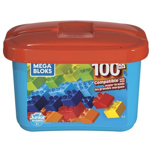 GJD21_Blocos_de_Montar_Mega_Bloks_Junior_Builders_100_Pecas_Mattel_1