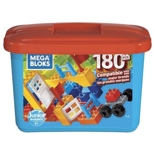 GJD22_Blocos_de_Montar_Mega_Bloks_Junior_Builders_180_Pecas_Mattel_1