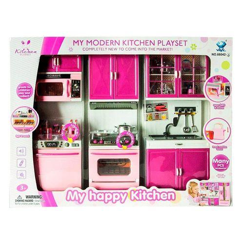 087896_Conjunto_de_Mini_Cozinha_Infantil_Rosa_My_Happy_Kitchen_Com_Luz_e_Som_Yes_Toys_1