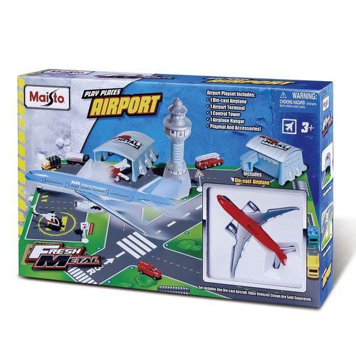 11010_Playset_Aviao_com_Acessorios_Aeroporto_Maisto_2
