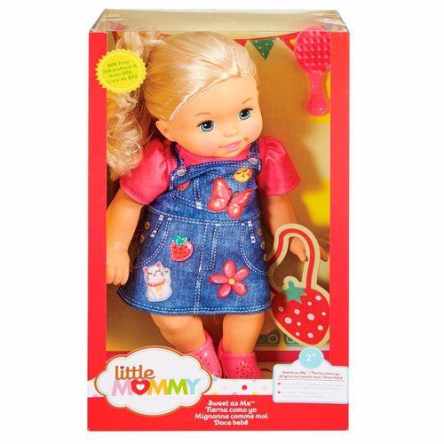 FLB80_Boneca_Little_Mommy_Doce_Bebe_Loira_Vestido_Jeans_Mattel_2