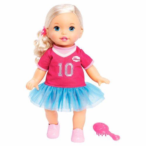 FLB80_Boneca_Little_Mommy_Doce_Bebe_Loira_Vestido_Rosa_com_Babado_Mattel_1