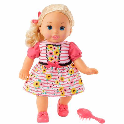 FLB80_Boneca_Little_Mommy_Doce_Bebe_Loira_Vestido_Rosa_com_Flores_Mattel_1