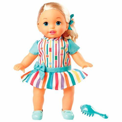 FLB80_Boneca_Little_Mommy_Doce_Bebe_Loira_Vestido_Verde_com_Laco_Mattel_1