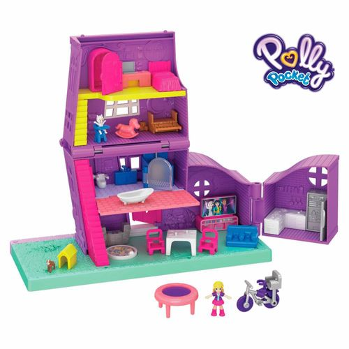 GFP42_Playset_e_Boneca_Polly_Pocket_Pollyville_Casa_da_Polly_Mattel_1
