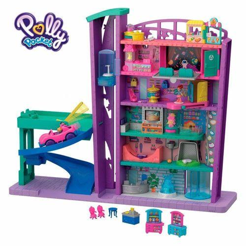 GFP89_Playset_e_Mini_Boneca_Polly_Pocket_Pollyville_Mega_Shopping_Mattel_1