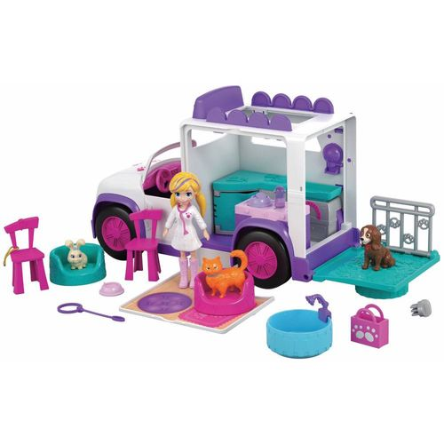 GFR04_Mini_Boneca_Polly_Pocket_Hospital_Movel_dos_Bichinhos_Mattel_1