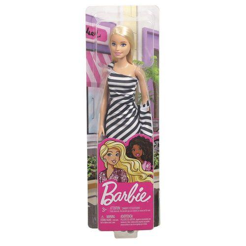 T7580_Boneca_Barbie_Fashion_Vestido_Listrado_Preto_e_Branco_Mattel_4
