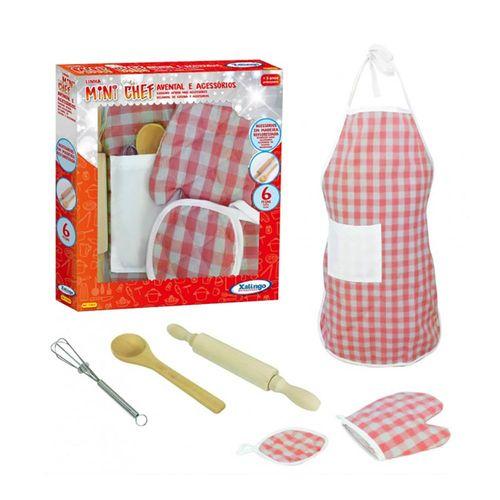 1140.9_Kit_de_Cozinha_Infantil_Mini_Chef_Avental_e_Acessorios_Xalingo