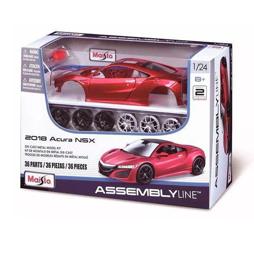 39900_Kit_de_Montagem_Assembly_Line_Colecionavel_2018_Acura_NSX_Vermelho_1_24_Maisto_3