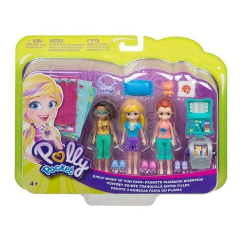 GMF82_Polly_Pocket_Mini_Conjunto_com_3_Bonecas_Festa_do_Pijama_Mattel_1