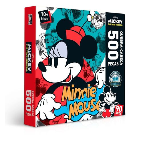 2552_Quebra-Cabeca_Minnie_Mouse_90_Anos_500_Pecas_Disney_Toyster_1