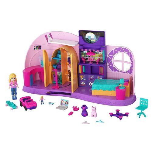 FRY98_Mini_Boneca_com_Playset_Quarto_da_Polly_Pocket_Mattel_1