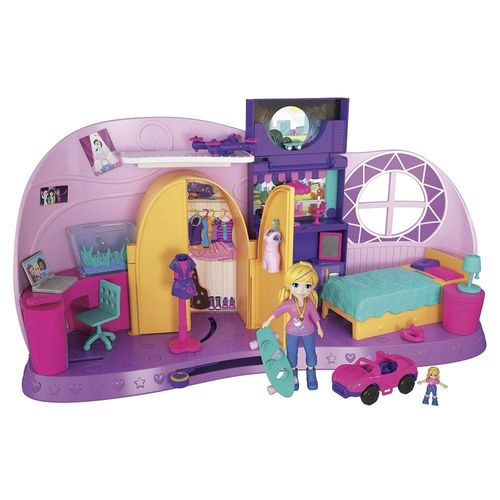 FRY98_Mini_Boneca_com_Playset_Quarto_da_Polly_Pocket_Mattel_9