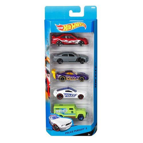 1806_BFB24_Carrinhos_Hot_Wheels_Pacote_com_5_Carros_Police_Pursuit_Sotido_Mattel_1