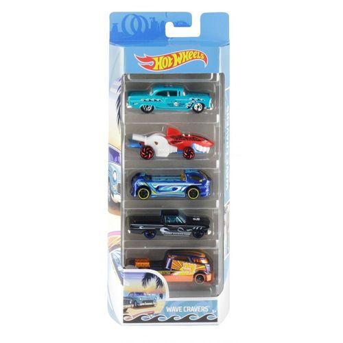 1806_Carrinhos_Hot_Wheels_Pacote_com_5_Carros_Wave_Cravers_Mattel