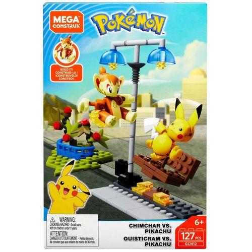 DYF09_GCN12_Blocos_Mega_Construx_Pokemon_Batalha_Chimchar_vs_Pikachu_120_Pecas_Mattel_1