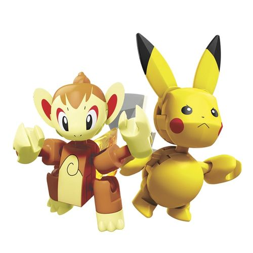 DYF09_GCN12_Blocos_Mega_Construx_Pokemon_Batalha_Chimchar_vs_Pikachu_120_Pecas_Mattel_2