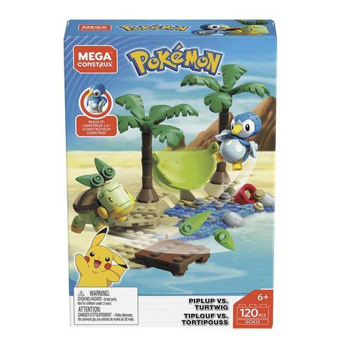 DYF09_GCN13_Blocos_Mega_Construx_Pokemon_Batalha_Piplup_vs_Turtwig_120_Pecas_Mattel_1