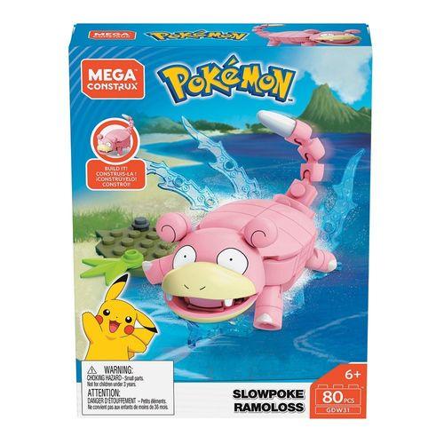 GDW29_GDW31_Blocos_Mega_Construx_Slowpoke_Ramoloss_80_Pecas_Pokemon_Mattel_1