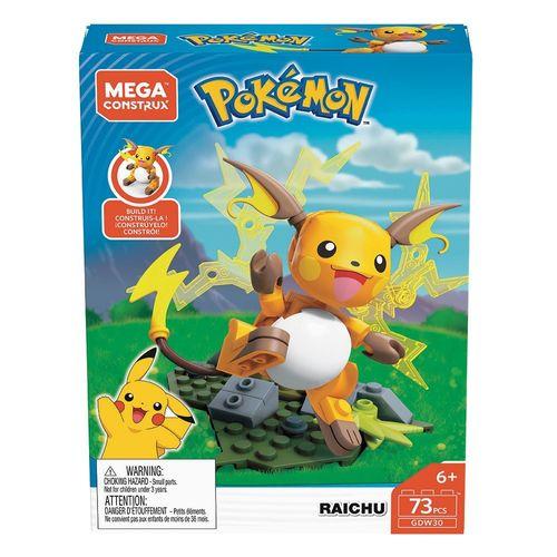 GDW29_GDW30_Blocos_Mega_Construx_Raichu_73_Pecas_Pokemon_Mattel_1