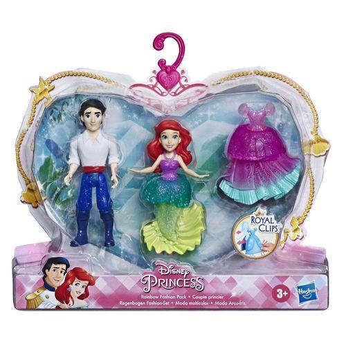 E9054_E9044_Conjunto_com_2_Mini_Figuras_Ariel_e_Eric_Moda_Arco-Iris_Disney_Hasbro_1