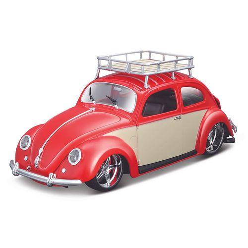 32610_Miniatura_Colecionavel_1951_Volkswagen_Beetle_1-18_Fusca_Vermelho_Maisto