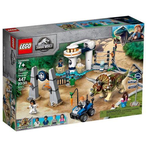 LEGO_Jurassic_World_Furia_do_Triceratops_75937_1