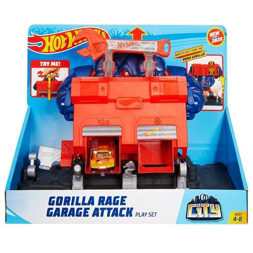 FNB05_GJK89_Pista_de_Carrinhos_Hot_Wheels_City_Ataque_de_Gorila_na_Garagem_Mattel_1