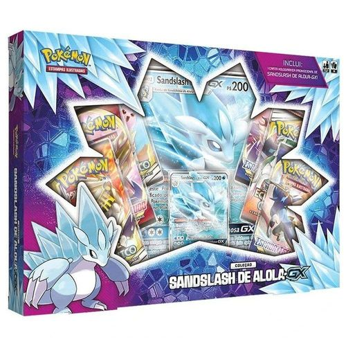 90576_Box_de_Cartas_Pokemon_Premium_Sandslash_de_Alola_GX_Copag