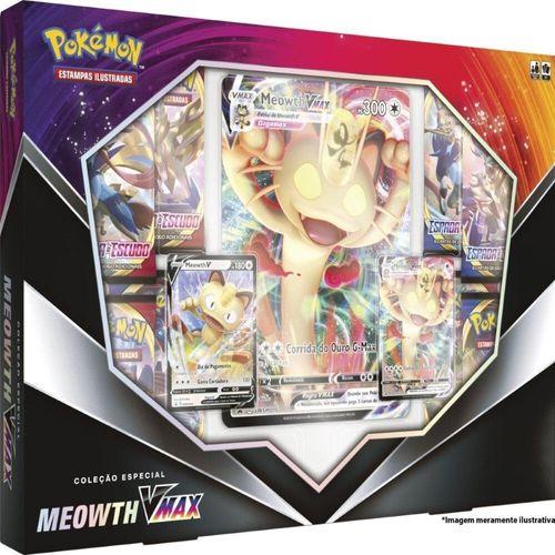 99785_Box_de_Cartas_Pokemon_Meowth_Vmax_Colecao_Especial_Copag