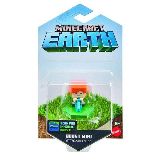 GKT32_GKT37_Mini_Figura_Basica_Minecraft_Earth_Alex_ao_Ataque_Mattel_1