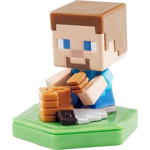 GKT32_GKT36_Mini_Figura_Basica_Minecraft_Earth_Steve_Trabalhador_Mattel_2