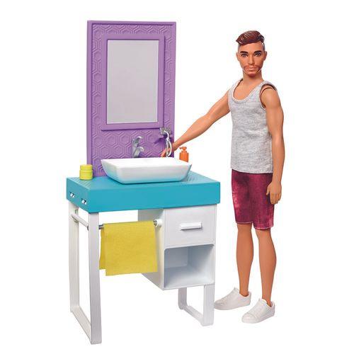 FYK51_FYK53_Bonecas_Barbie_Ken_com_Moveis_do_Banheiro_Mattel_1