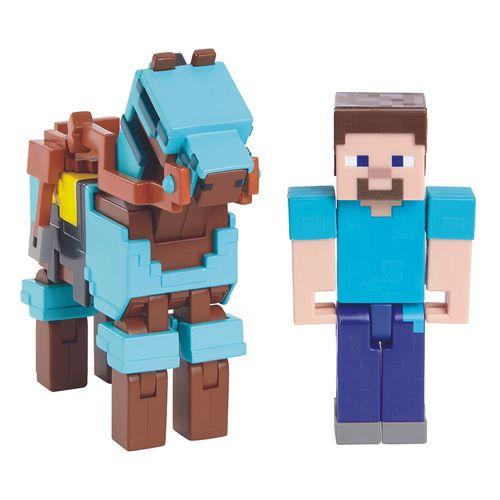 GRD93_Figura_Articulada_Minecraft_Steve_e_Cavalo_com_Armadura_Mattel_2