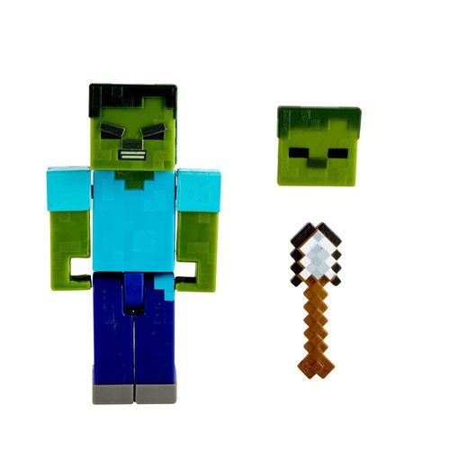 GRD74_GRD81_Mini_Figura_Articulada_Minecraft_8_cm_Zombie_Mattel_2