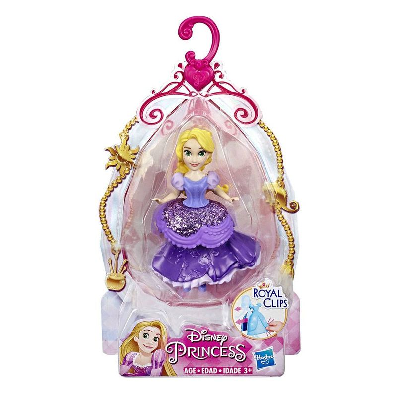 E3049_Mini_Boneca_Princesas_Disney_Rapunzel_Royal_Clips_10_cm_Hasbro_1