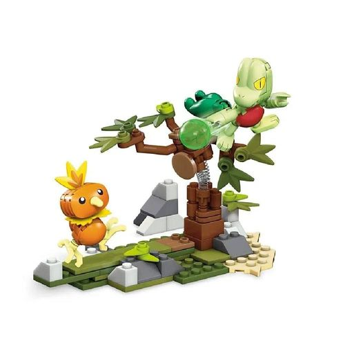 DYF09_Blocos_Mega_Construx_Pokemon_Batalha_Torchic_Poussifeu_vs_Treecko_Arcko_120_Pecas_Mattel_1