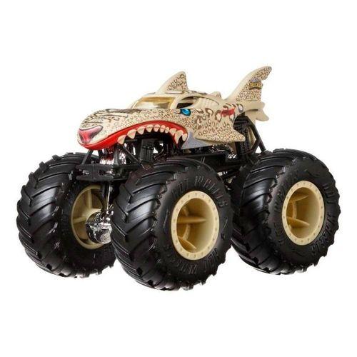 GCF94_GCF98_Carrinho_Hot_Wheels_143_Monster_Trucks_Leopard_Shark_Bash-Ups_Mattel__1