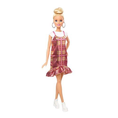 FBR37_Boneca_Barbie_Fashionistas_Vestido_Xadrez_Rosa_142_Mattel_1