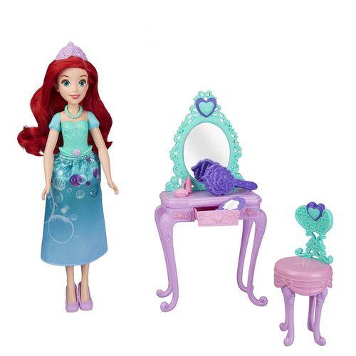 E2912_E3153_Playset_com_Boneca_Disney_Princesas_Penteadeira_Real_da_Ariel_Hasbro_1