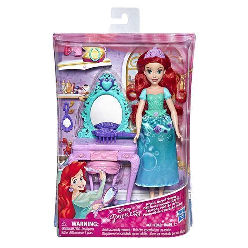 E2912_E3153_Playset_com_Boneca_Disney_Princesas_Penteadeira_Real_da_Ariel_Hasbro_3