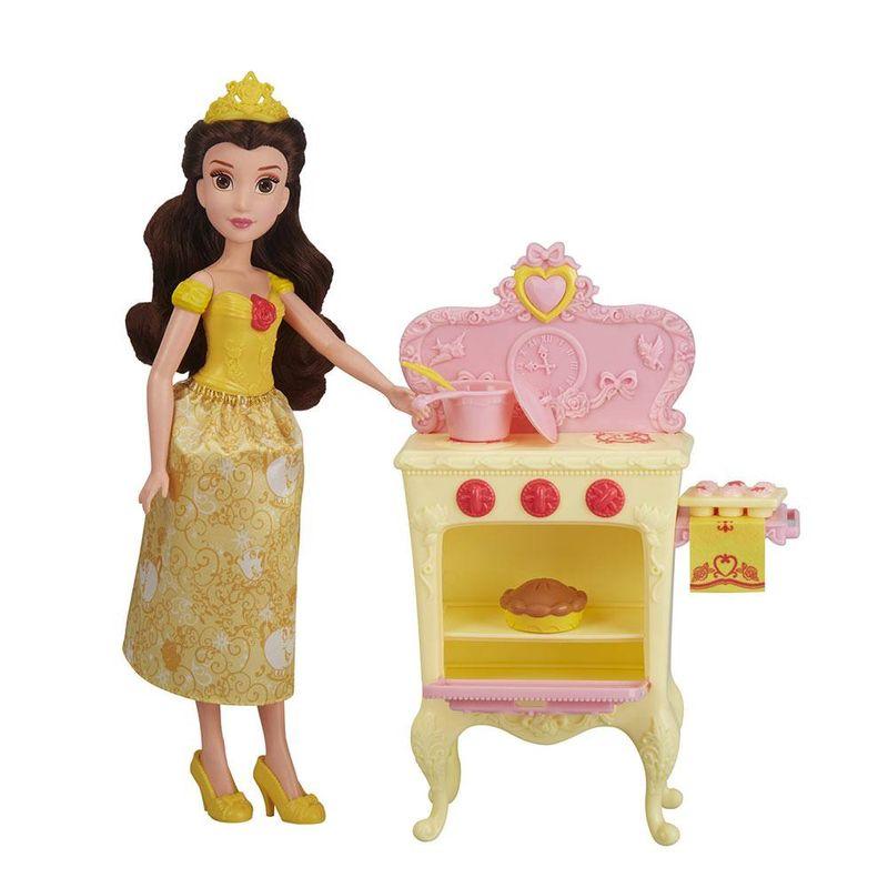 E2912_E3154_Playset_com_Boneca_Disney_Princesas_Cozinha_Real_a_Bela_Hasbro_1
