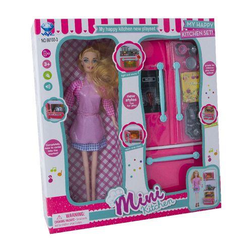 172512_Playset_com_Boneca_Mini_Kitchen_Geladeira_Yes_Toys_1