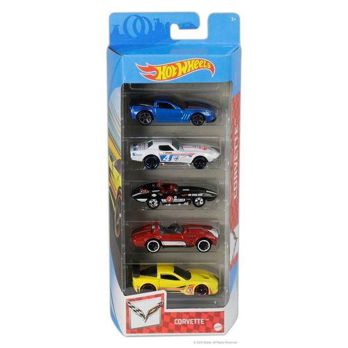 806-GTN35_Carrinhos_Hot_Wheels_Pacote_com_5_Carros_Corvette_Mattel