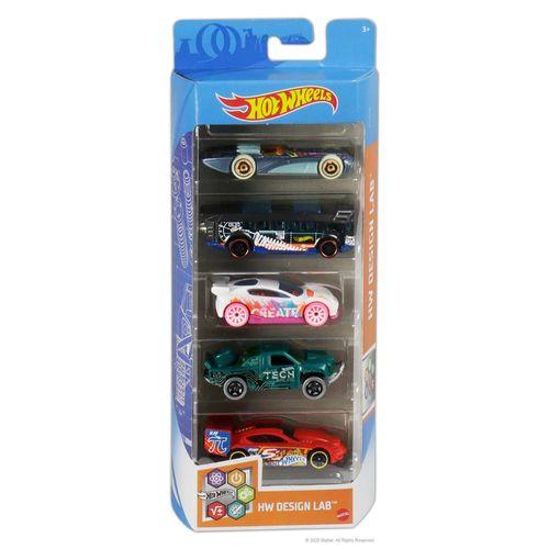 806-GTN34_Carrinhos_Hot_Wheels_Pacote_com_5_Carros_HW_Design_Lab_Mattel